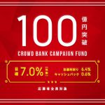 【日本クラウド証券】『応募総額100億円突破』記念キャンペーンファンド